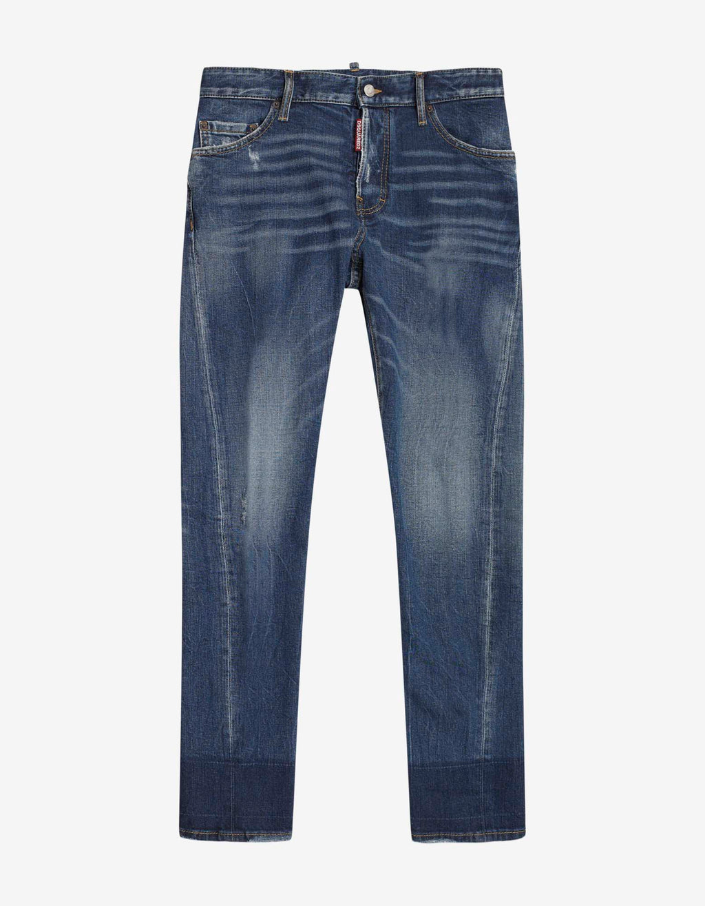 Blue Distressed Sexy Twist Jeans