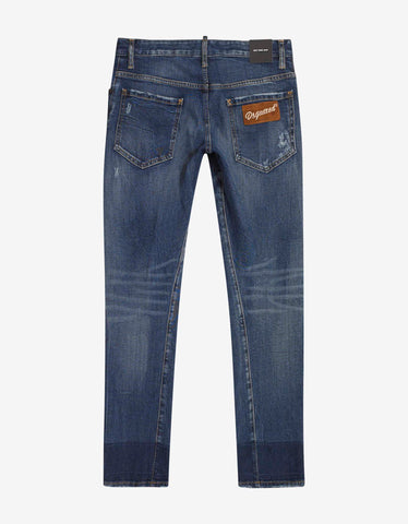 Dsquared2 Blue Distressed Sexy Twist Jeans