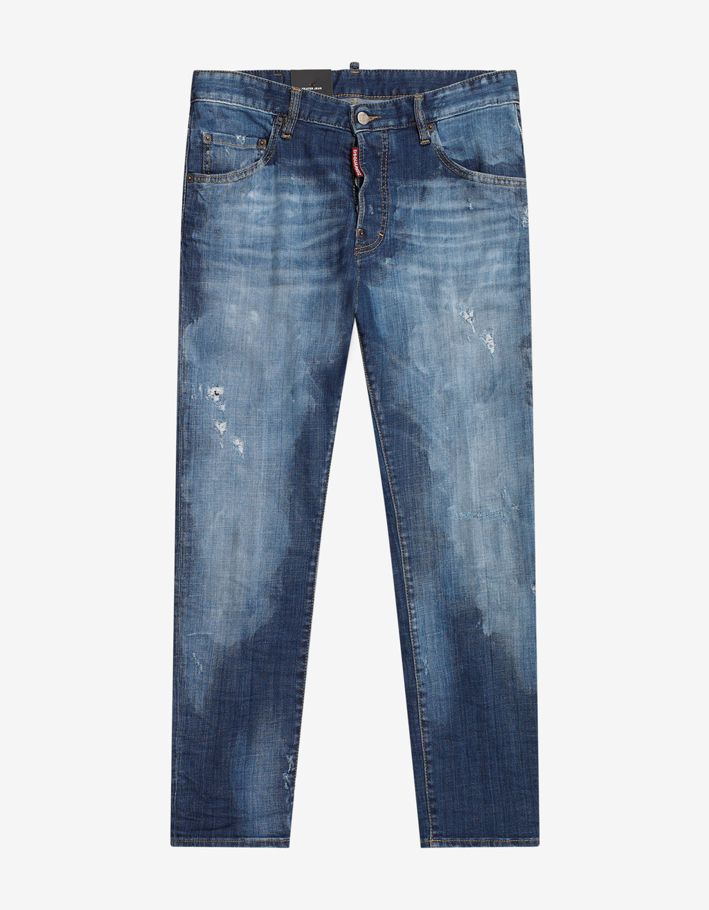 Blue Distressed Skater Jeans