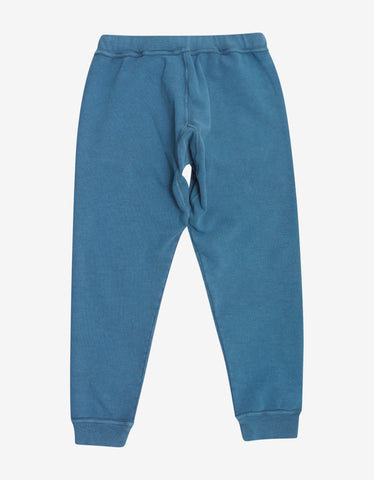 Dsquared2 Blue Logo Print Sweat Pants