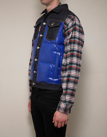 Dsquared2 Blue Nylon & Denim Gilet