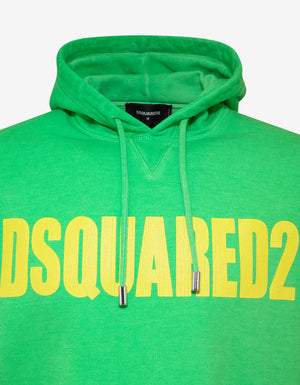 Green Dsquared2 Print Hoodie