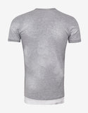 Grey Caten Twins Print T-Shirt