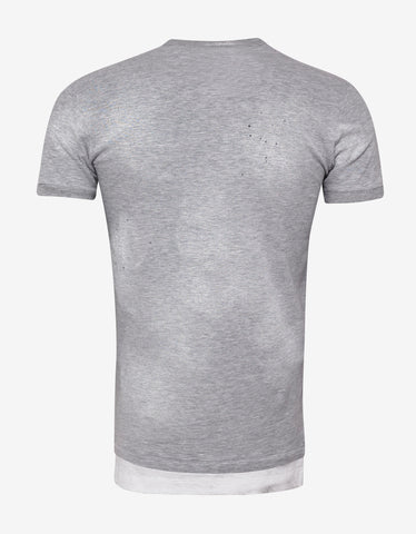 Dsquared2 Grey Caten Twins T-Shirt