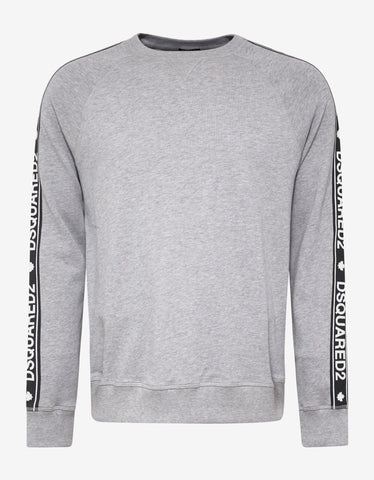 Dsquared2 Grey Dsquared2 Logo Tape Sweatshirt