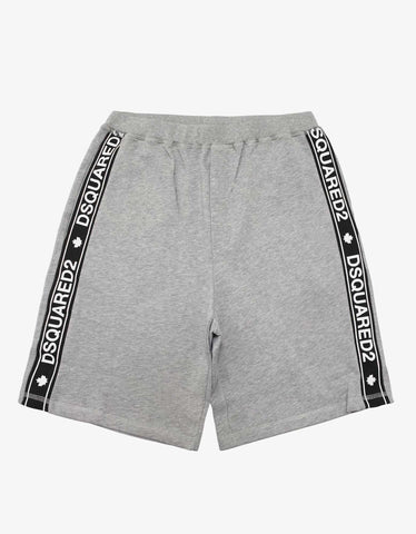 Dsquared2 Grey Logo Tape Sweat Shorts