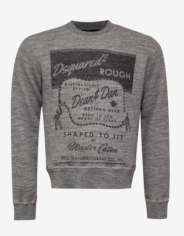 Dsquared2 Grey Western Print Sweatshirt