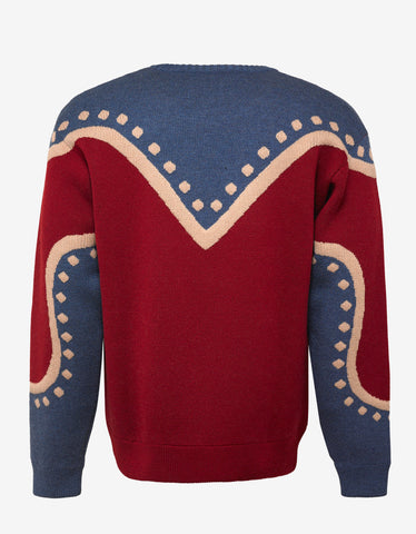 Dsquared2 Maple Leaf Intarsia Wool Sweater