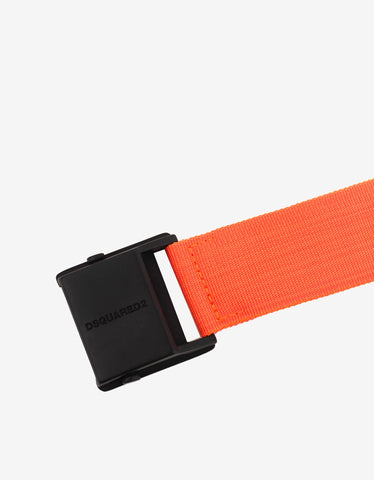 Dsquared2 Orange Canvas Belt