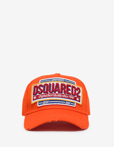 Dsquared2 Orange Dsquared2 Badge Baseball Cap