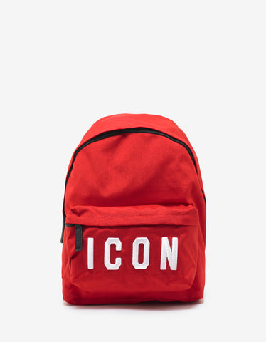 Dsquared2 Red Icon Logo Backpack