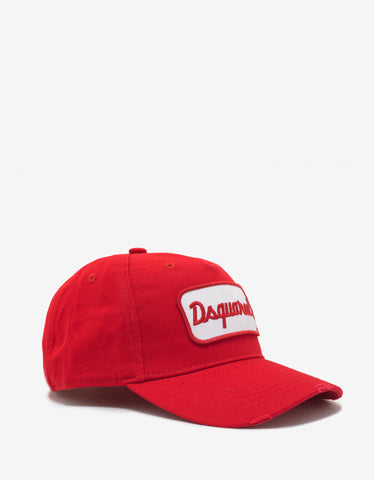 Dsquared2 Red Logo Badge Baseball Cap