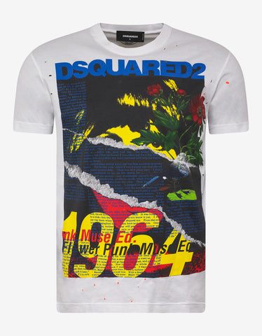 Dsquared2 White 1964 Print T-Shirt