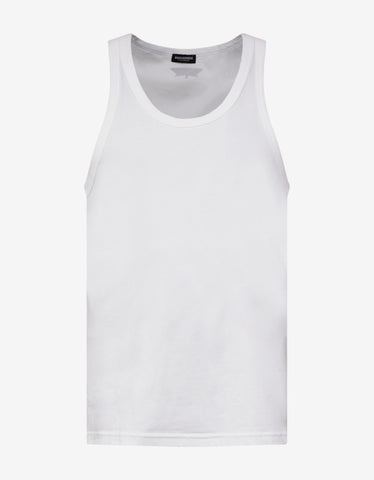 Dsquared2 White DSQ2 Yoke Tank Top