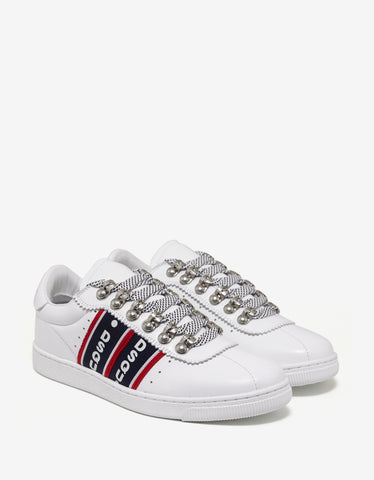 Dsquared2 White Logo Stripe Trainers