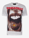 White Mouth Print T-Shirt