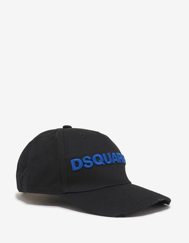 Dsquared2 Black Baseball Cap with Blue Dsquared2 Logo
