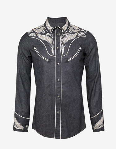 Dsquared2 Blue Western Denim Shirt