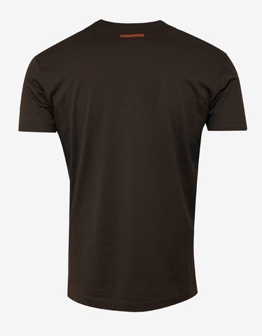 Dsquared2 Brown Dean Dan Print T-Shirt