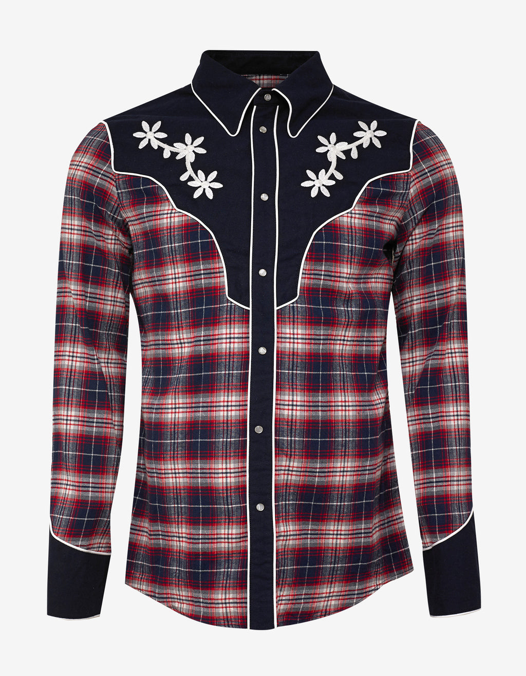Plaid Western Panel Shirt