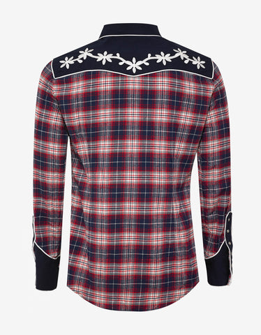 Dsquared2 Plaid Western Panel Shirt