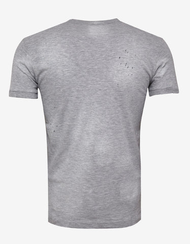 Dsquared2 Grey Dsquared2 Milano Print T-Shirt