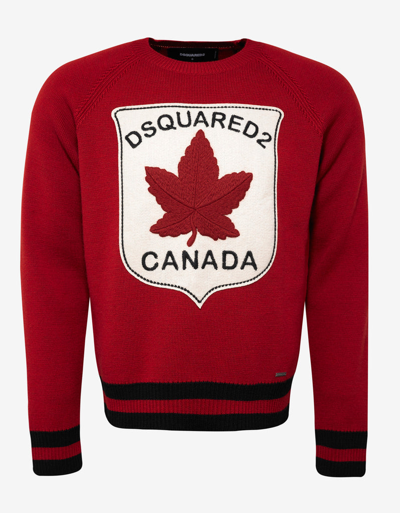 maple leaf embroidered sweatshirt Dsquared2 Cheap Real Finishline e4Y4d