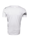 White Logo Tape Print T-Shirt