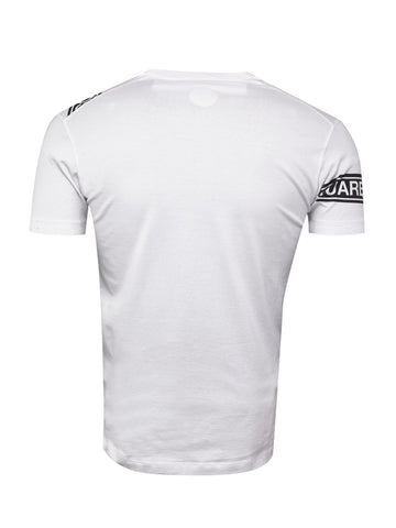 Dsquared2 White Logo Tape Print T-Shirt