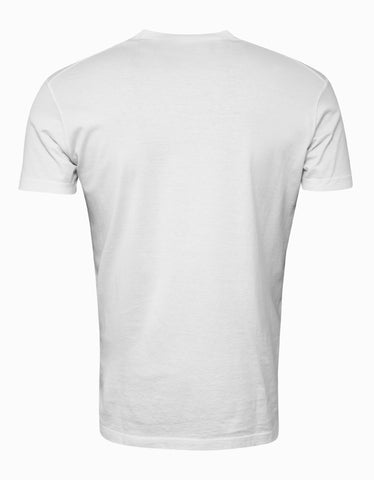 Dsquared2 White Break Dance Crew Print T-Shirt