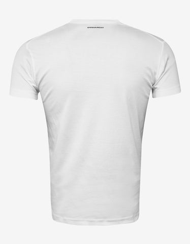 Dsquared2 White Icon Print T-Shirt