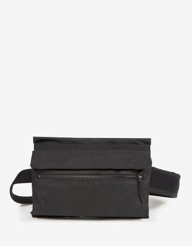 Eastpak x Raf Simons RS Poster Black Cotton & Satin Punk Waist Bag