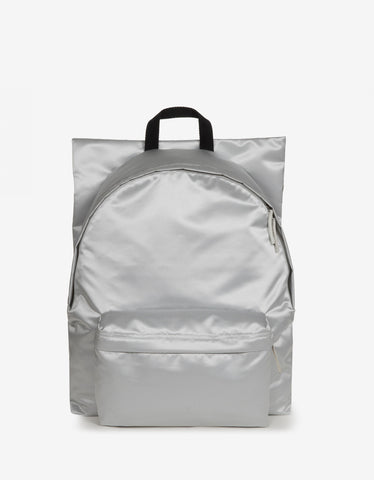 Eastpak x Raf Simons RS Poster Padded Silver Satin Punk Backpack