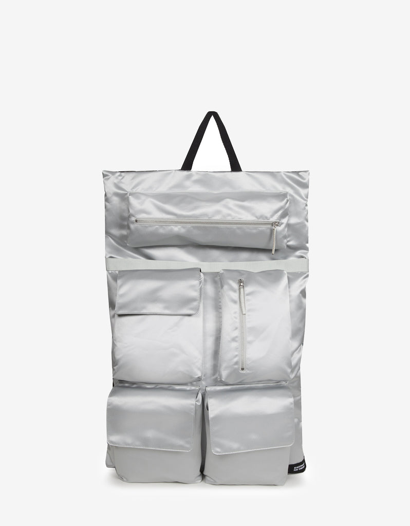d4b32397a2c Home » Bags » Eastpak x Raf Simons » RS Poster Silver Satin Punk Couple  Backpack. RS Poster Silver Satin Punk Couple Backpack ...