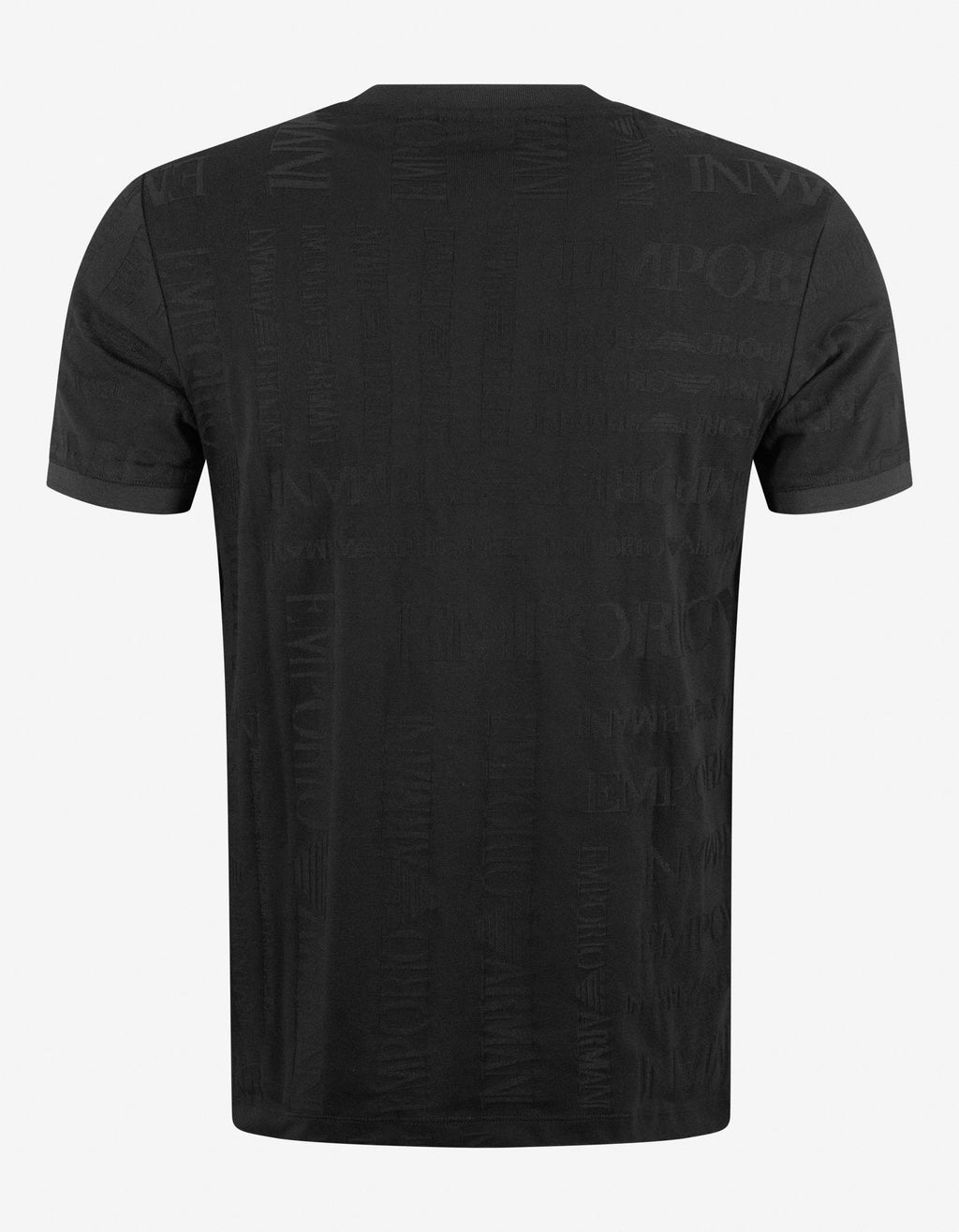 Black All-Over Jacquard Logo T-Shirt -