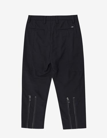 Emporio Armani Black Cropped Biker Trousers