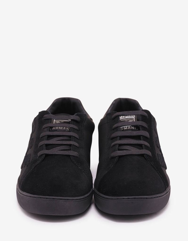 Black Eagle Embossed Trainers