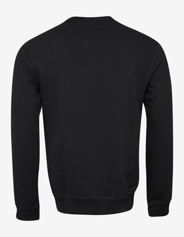 Emporio Armani Black Eagle Logo Embroidery Sweatshirt