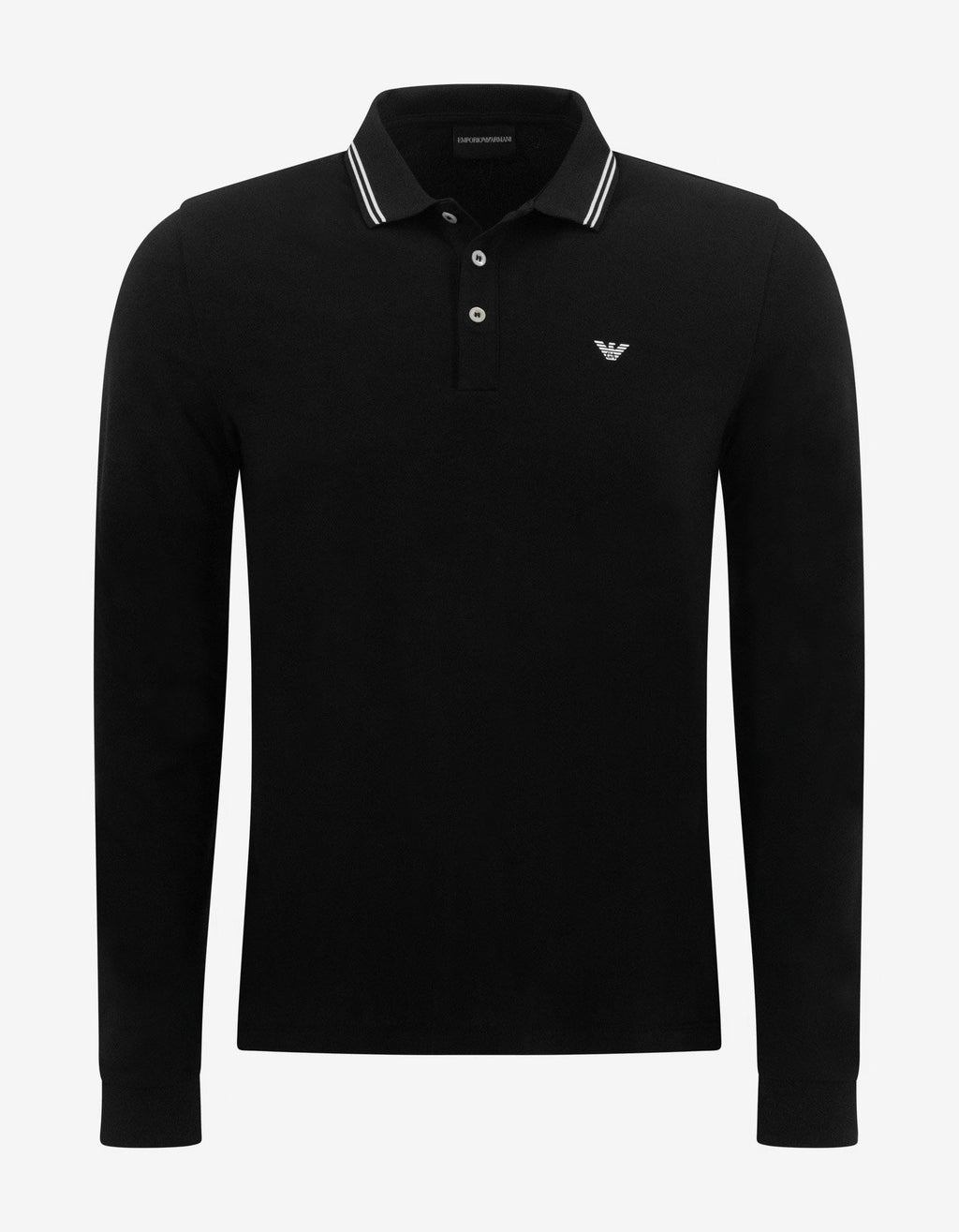 Black Eagle Logo Long Sleeve Polo T-Shirt