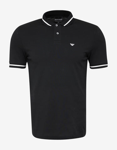 Emporio Armani Black Eagle Logo Polo T-Shirt