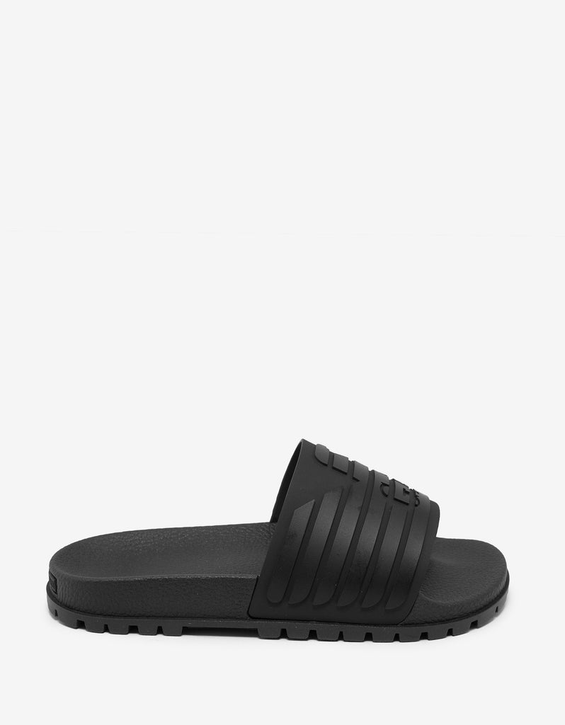 Black Eagle Logo Slide Sandals