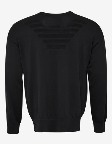 Emporio Armani Black Eagle Logo Sweater