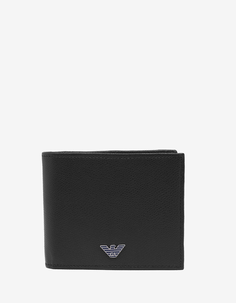 Black & Blue Leather Billfold Wallet