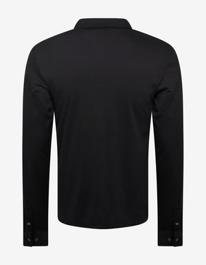 Black Jersey Cotton Shirt