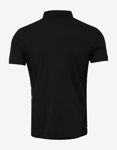 Emporio Armani Black Side Logo Polo T-Shirt