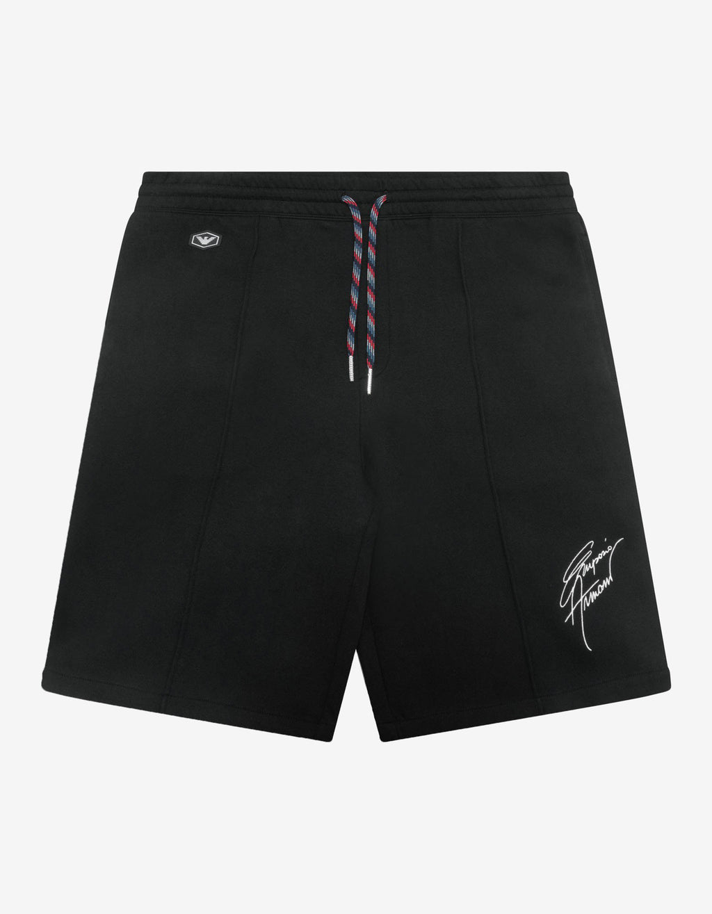 Black Signature Logo Embroidery Sweat Shorts