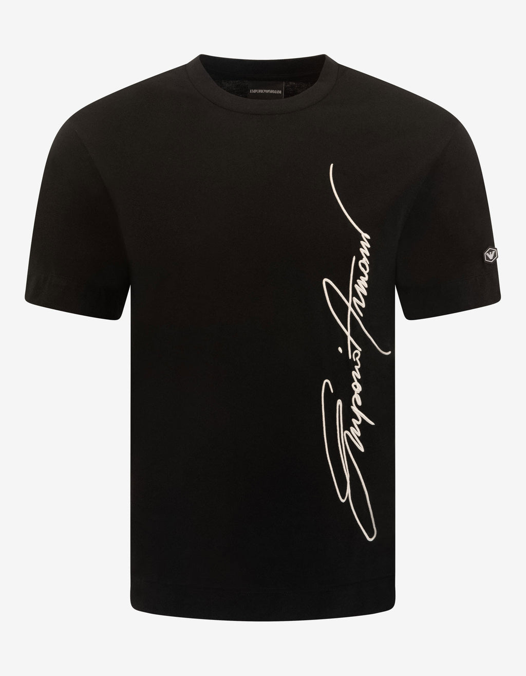 Black Signature Logo Embroidery T-Shirt
