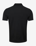 Black Signature Logo Polo T-Shirt