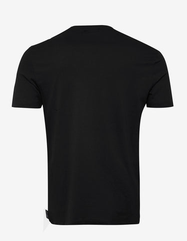Emporio Armani Black Embroidered Eagle Logo T-Shirt