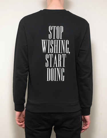 Emporio Armani Black Text Print Sweatshirt